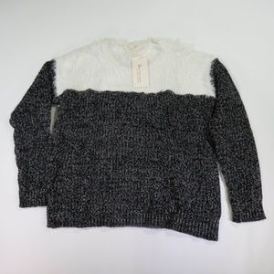 Two by Vince Camuto Small Faux Fur Sweater
